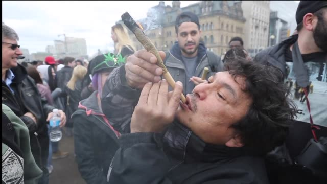 Thousands of people in Ottawa smoke marijuana outside Canada's parliament at an annual 420 rally as new polling shows strong support for a government...