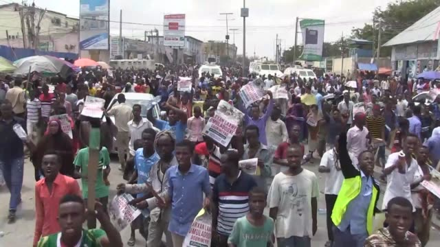 Thousands of people march against Al Shabaab in Mogadishu four days after the capital witnessed the deadliest bomb attack in the country's history...