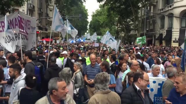 thousands of people marched in argentina on thursday to protest hikes in water electricity and natural gas prices many joined the call to protest by... - argentina stock videos & royalty-free footage