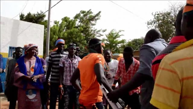 thousands of people marched in the niger capital niamey on sunday to protest against the regime of president mahamadou issoufou over the detention of... - mahamadou issoufou stock videos and b-roll footage