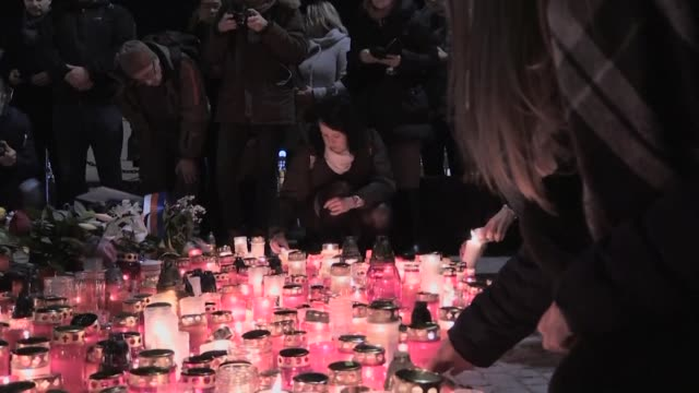 thousands of people marched through central prague wednesday to commemorate czech student jan palach who set himself alight exactly 50 years ago in... - prague stock videos & royalty-free footage