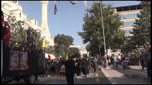 thousands of people on september 20 2018 marked the anniversary of the martyrdom of imam alhussein in igdir eastern province of turkey thursday is... - imam hussein stock videos and b-roll footage