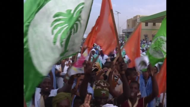 thousands of people protested in the mauritanian captial nouakchott on saturday calling on opposition parties to oppose changes to the constitution - nouakchott stock videos & royalty-free footage
