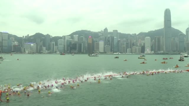 Thousands of people swim across Hong Kong's renowned Victoria Harbour one of the world's most famous and busiest waterways in the annual race which...