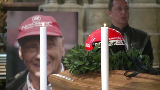 thousands of people throng a vienna cathedral to mourn formula one legend and austrian national hero niki lauda at a ceremony to be attended by a... - traditionally austrian stock videos & royalty-free footage