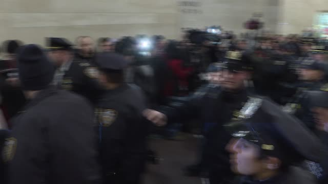 thousands of protesters flocked to grand central terminal and flowed out into midtown's streets during rush hour friday to protest increased policing... - grand central station manhattan stock videos & royalty-free footage