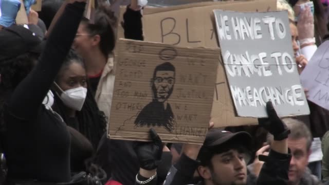 thousands of protesters gathered in birmingham for a peaceful black lives matter demonstration in memory of george floyd, who was killed on may 25... - tranquility stock videos & royalty-free footage