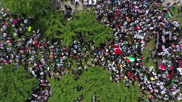 thousands of protesters in paterson, new jersey, gathered on sunday, may 16, to show solidarity with palestinians, who have been exposed to deadly... - exclusive stock videos & royalty-free footage