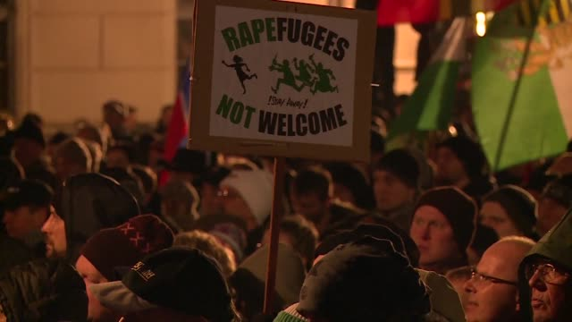 Thousands of protesters rally in the eastern German city of Leipzig demonstrating against a record refugee influx they blame for sexual violence at...