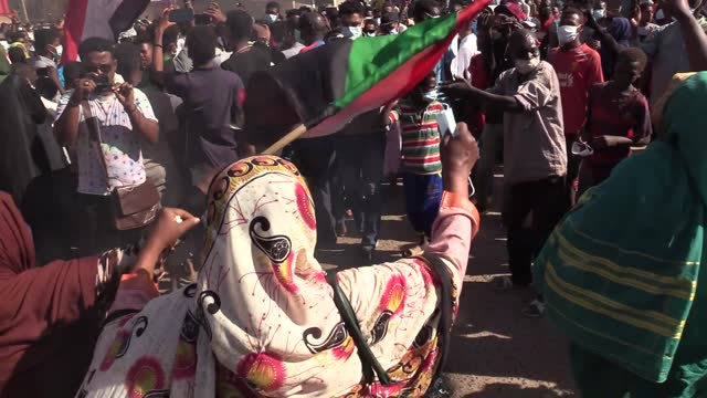 thousands of protesters took to the streets in several cities across sudan on saturday to mark the second anniversary of protests that led to the... - dissolving stock videos & royalty-free footage