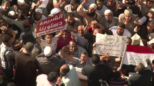 thousands of radical islamists demonstrated in cairo on friday to demand that sharia or islamic law be the basis for legislation in a new... - egypt stock videos & royalty-free footage