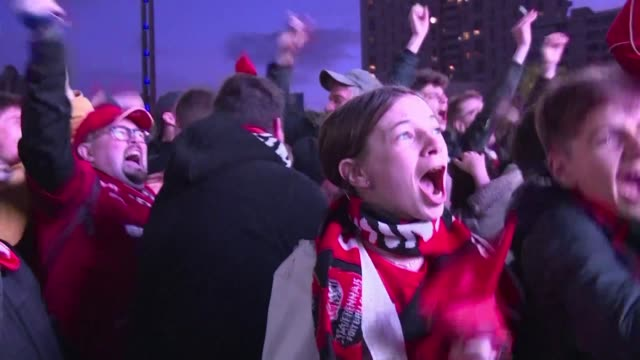 thousands of rennes fans gather in town to celebrate french cup title win against psg - rennes stock videos & royalty-free footage
