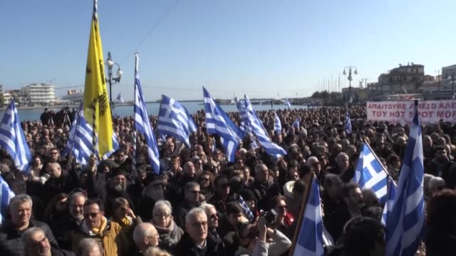 thousands of residents on greek islands hosting large migrant camps kick off a day of protests demanding the immediate removal of asylum-seekers - athens greece stock videos & royalty-free footage
