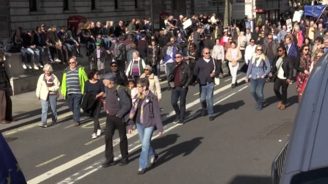 thousands of second referendum supporters have been marching on parliament in london asking for a vote on boris johnson's brexit deal effigies of the... - effigy stock videos & royalty-free footage