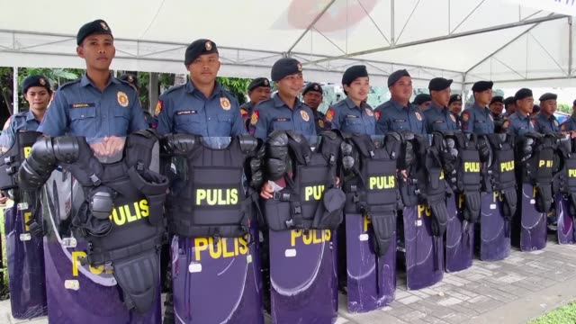 Thousands of security forces are mobilised around Manila for the upcoming ASEAN Summit