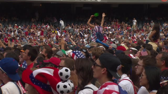 WGN Thousands of soccer fans piled into Chicago's Soldier Field to watch United States men's national soccer team take on Belgium in a World Cup...