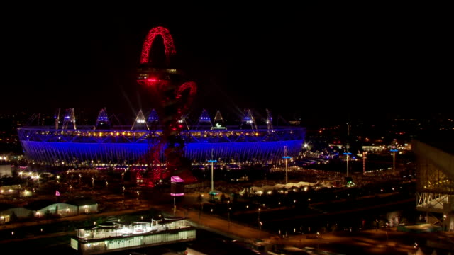 Thousands of spectators leave the Olympic Stadium after the opening ceremony of the London 2012 Paralympics TimeLapse Paralympics Opening Ceremony at...