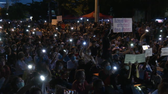thousands of thai protesters assembled outside the parliament building as lawmakers debated on accepting constitutional amendment motions submitted... - legislator stock videos & royalty-free footage