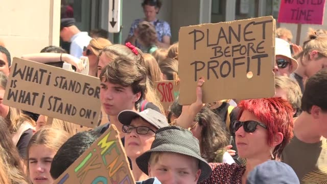 thousands of young people march in the streets of brussels for the second day of international action to fight against climate change - clima video stock e b–roll