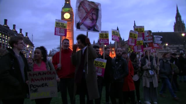 Thousands protest as MPs debate Donald Trump's state visit to the UK Thousands protest as MPs debate Donald Trump's state visit to the UK London...