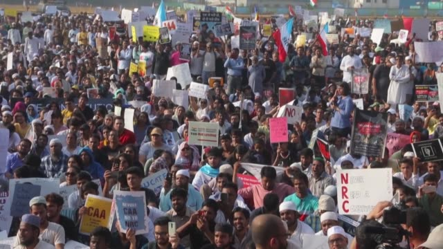 thousands protest in rival demonstrations in india friday as tensions deepen over a citizenship law seen as anti muslim with authorities deploying... - citizenship stock videos & royalty-free footage