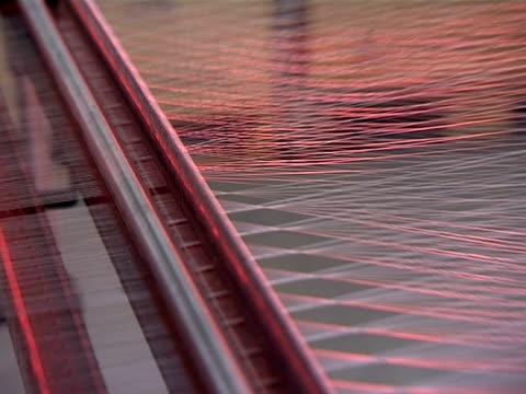 stockvideo's en b-roll-footage met thread close up - wollig