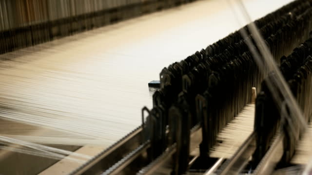 Threads on a loom in weaving machine