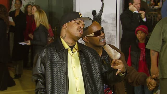 three 6 mafia at the mgm's 'rocky balboa' world premiere at grauman's chinese theatre in hollywood california on december 13 2006 - three 6 mafia stock videos and b-roll footage