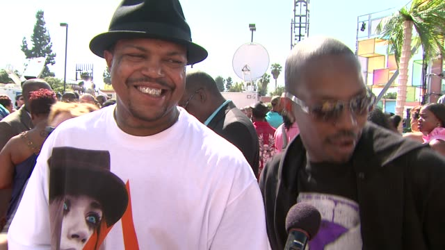 three 6 mafia on being nominated and on the energy on the red carpet at the 2009 bet awards at los angeles ca - three 6 mafia stock videos and b-roll footage