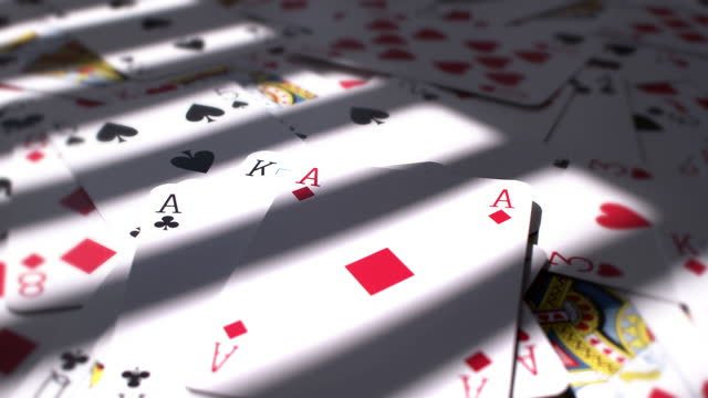 three aces. pov playing cards. - suit stock videos & royalty-free footage