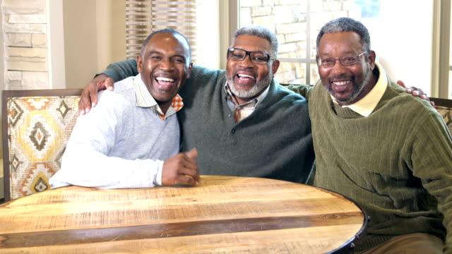three african-american men smiling at the camera - 50 59 years stock videos & royalty-free footage