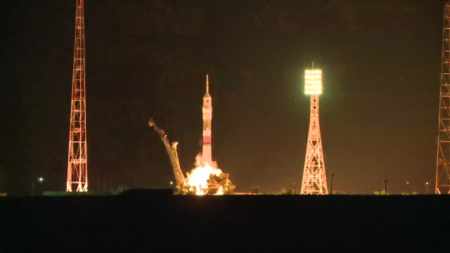 Three astronauts aboard a Soyuz spacecraft successfully launched towards the International Space Station on Thursday after a two month delay caused...