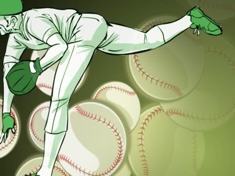 vídeos y material grabado en eventos de stock de three baseball players playing baseball - gorra de béisbol