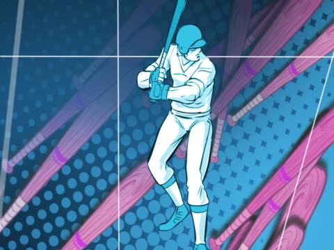 three baseball players playing baseball - baseball strip stock videos & royalty-free footage