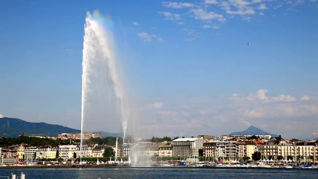 Three beautiful views of city of Geneva