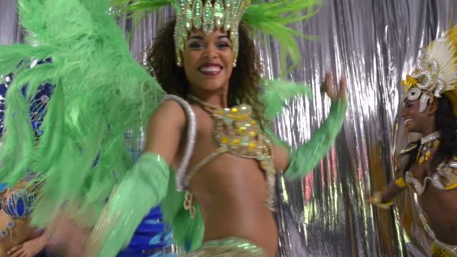 Three Brazillian Carnival dancers