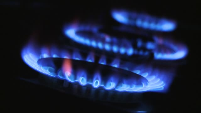 three burning gas flames - stove stock videos & royalty-free footage