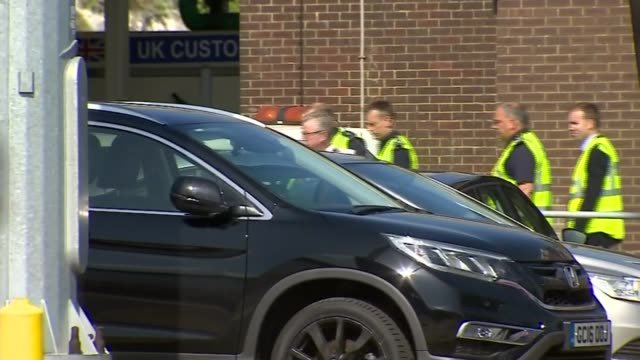 three cabinet ministers visit dover to discuss nodeal brexit preparations england kent dover port of dover int various shots of michael gove mp priti... - home secretary stock videos & royalty-free footage