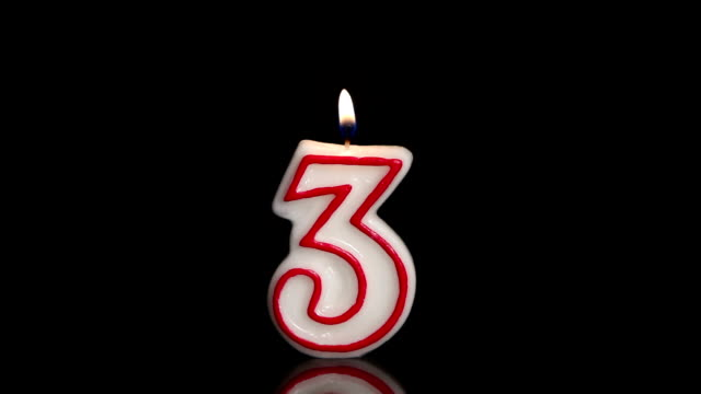 three candle - number 3 stock videos & royalty-free footage