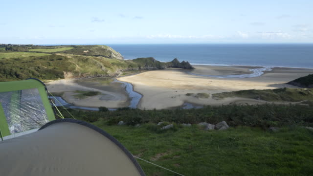 Three Cliffs Bay Holiday Park, Gower Peninsula, Wales, UK.