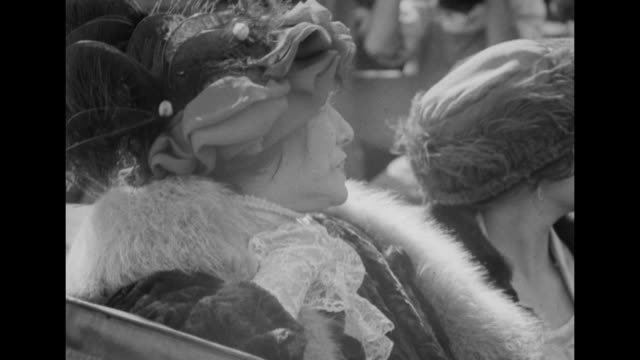 three close shots of actress sarah bernhardt sitting in a carriage with others breeze ruffles her hat and lace cuff / note exact year not known... - unvollständig stock-videos und b-roll-filmmaterial