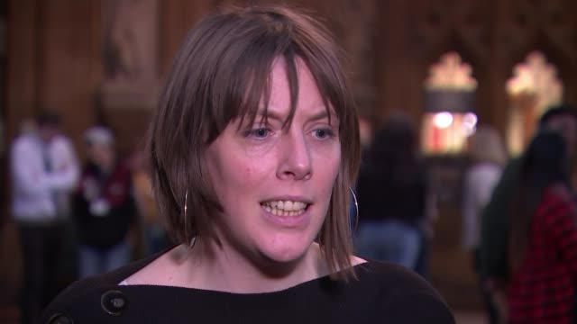 three conservative mps quit party to join independent group england london westminster int jess phillips mp interview sot i'd be lying if i said that... - heidi allen stock videos & royalty-free footage
