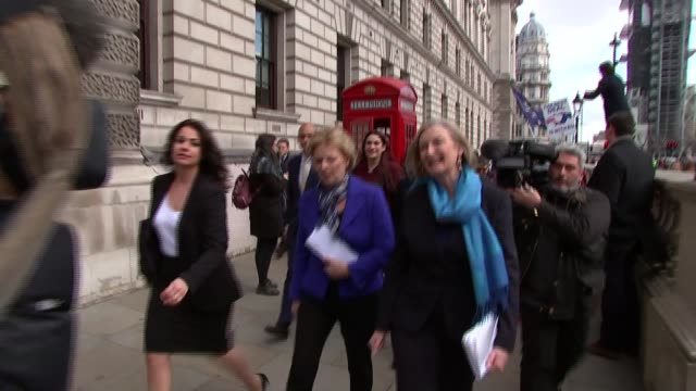 three conservative mps quit party to join independent group england london westminster ext heidi allen mp anna soubry mp and sarah wollaston mp along - member of parliament stock videos & royalty-free footage