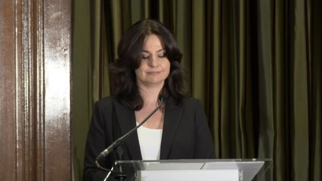 three conservative mps quit party to join independent group england london south cambridgeshire press conference sot once there were seven and now... - heidi allen stock videos & royalty-free footage