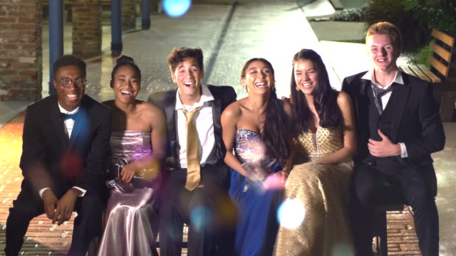 three couples hanging out after prom - after party stock videos & royalty-free footage