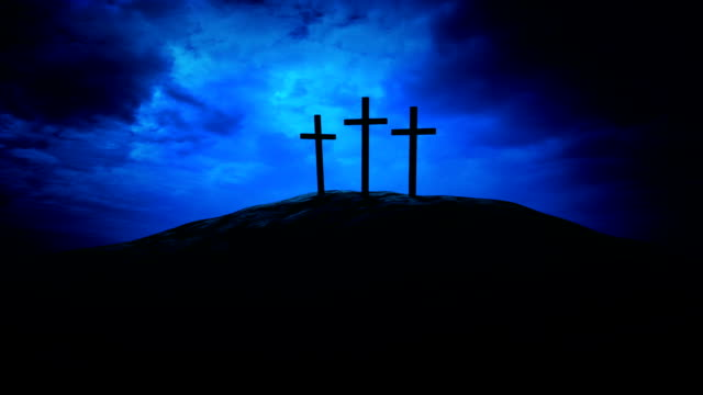 three crosses and dramatic sky - three objects stock videos & royalty-free footage