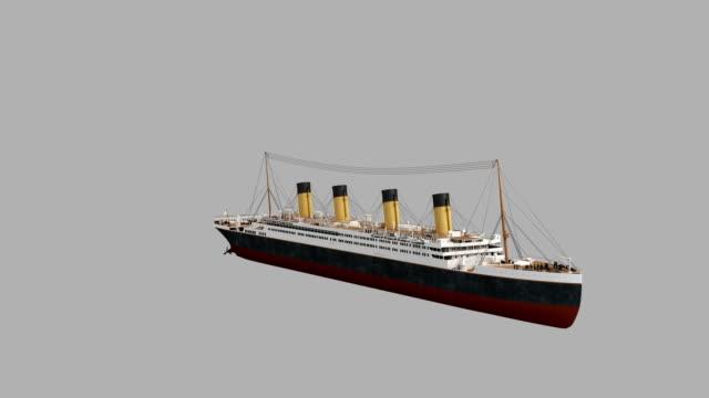 vidéos et rushes de trois dimensions mode d'essorage bouclables transport avec luma matte - titanic