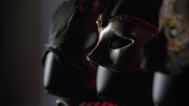 ZI Three fetish masks on display / New York City, New York, United States