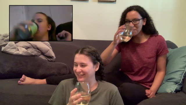 three friends live streaming their happy hour - live broadcast stock videos & royalty-free footage