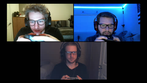 three friends playing multiplayer video games concentrate before win during video call - alpha channel stock videos & royalty-free footage